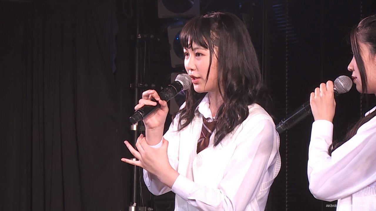 AKB横島亜衿 劇場公演MC 20140621 (3)