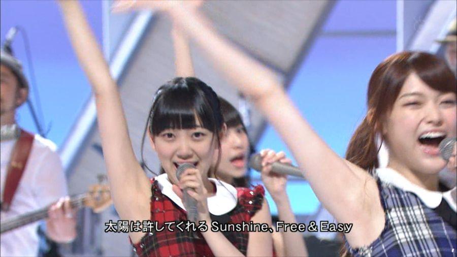 乃木坂46 MUSIC FAIR 白石麻衣&橋本奈々未&西野七瀬  「夏のFree&Easy」 20140712 (20)