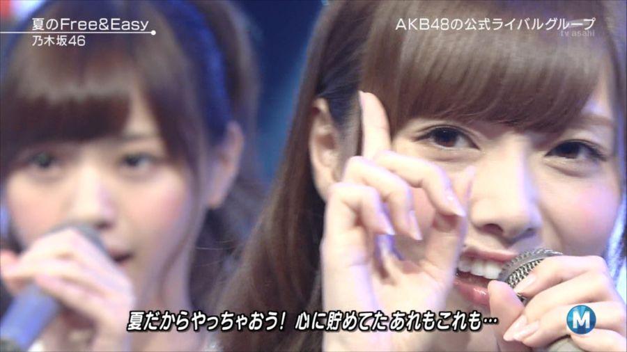 乃木坂46 ミュージックステーション 白石麻衣 20140711 (13)_R