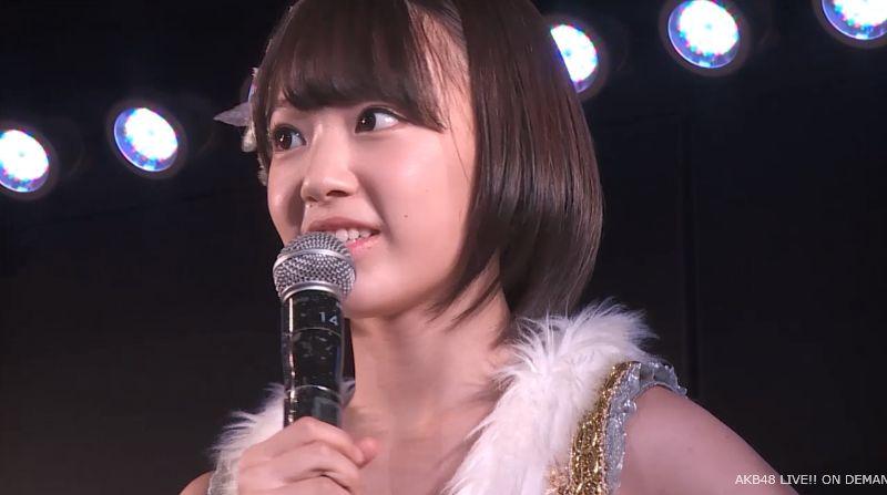 ストレート宮脇咲良 MC 最近ハマってること AKB48チームA公演 20140730 (6)