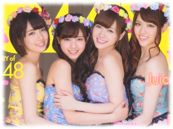 BOMB 2014年8月号 表紙 白石麻衣、西野七瀬、橋本奈々未、松村沙友理3