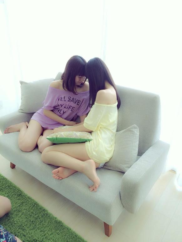 渡辺美優紀 渋谷凪咲 BOMB  2014年9月 オフショット (3)