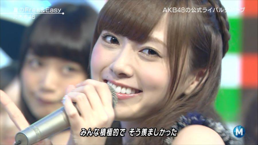 乃木坂46 ミュージックステーション 白石麻衣 20140711 夏の (1)_R