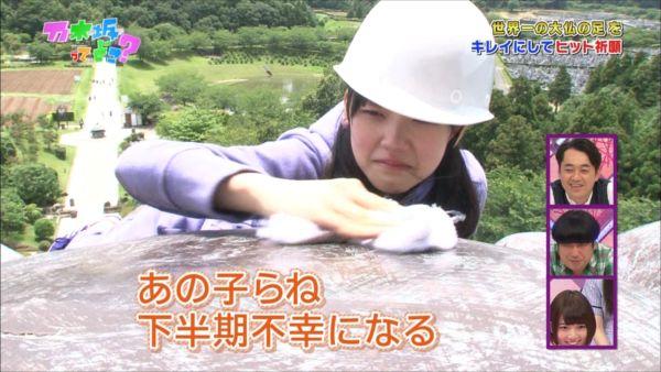 堀未央奈 ヒット祈願 大仏様清掃 乃木坂ってどこ 20140707 (40)_R