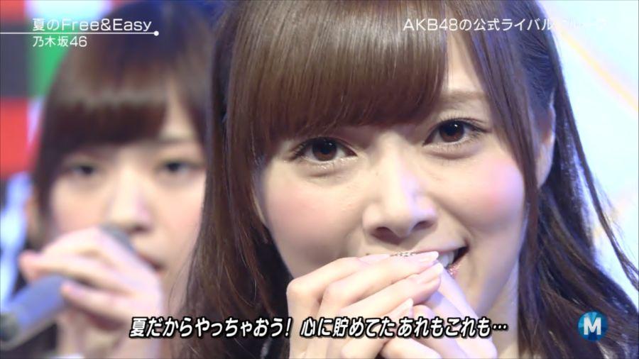 乃木坂46 ミュージックステーション 白石麻衣 20140711 夏の (2)_R