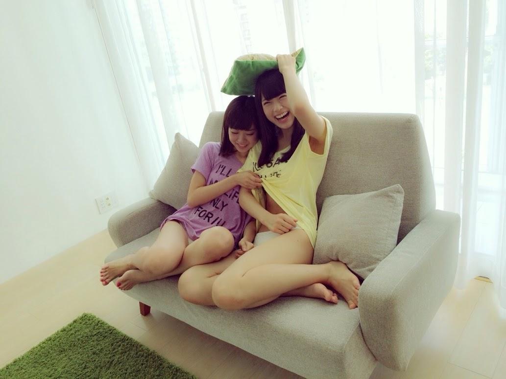 渡辺美優紀 渋谷凪咲 BOMB 2014年9月 オフショット (1)
