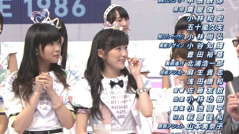 ミュージックステーション AKB48渡辺麻友 心のプラカード 20140829 (48)