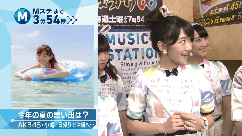 ミュージックステーション AKB48柏木由紀 心のプラカード 20140829 (4)