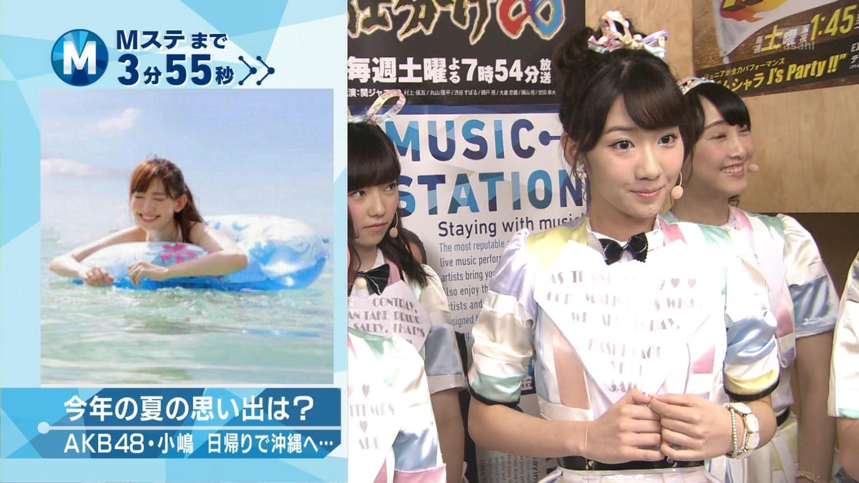 ミュージックステーション AKB48柏木由紀 心のプラカード 20140829 (5)
