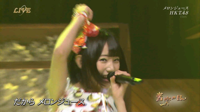 音楽の日 宮脇咲良AKB48 HKT48 20140802 (9)