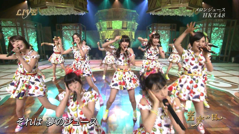 音楽の日 宮脇咲良AKB48 HKT48 20140802 (13)