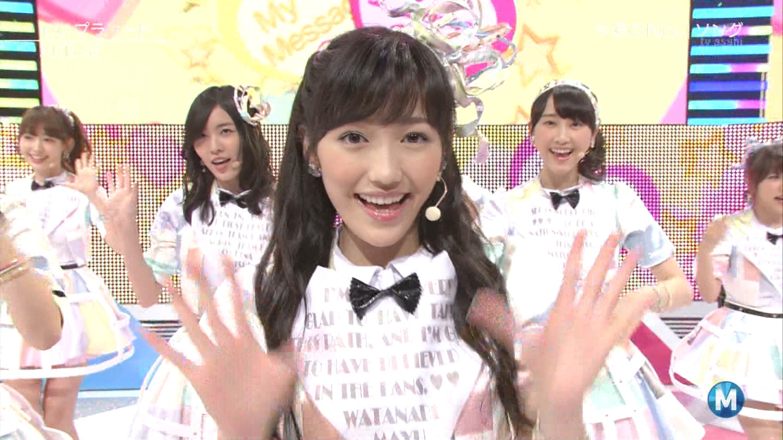ミュージックステーション AKB48渡辺麻友 心のプラカード 20140829 (40)