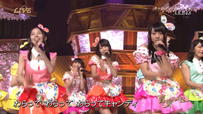 音楽の日 宮脇咲良AKB48 HKT48 20140802 (34)