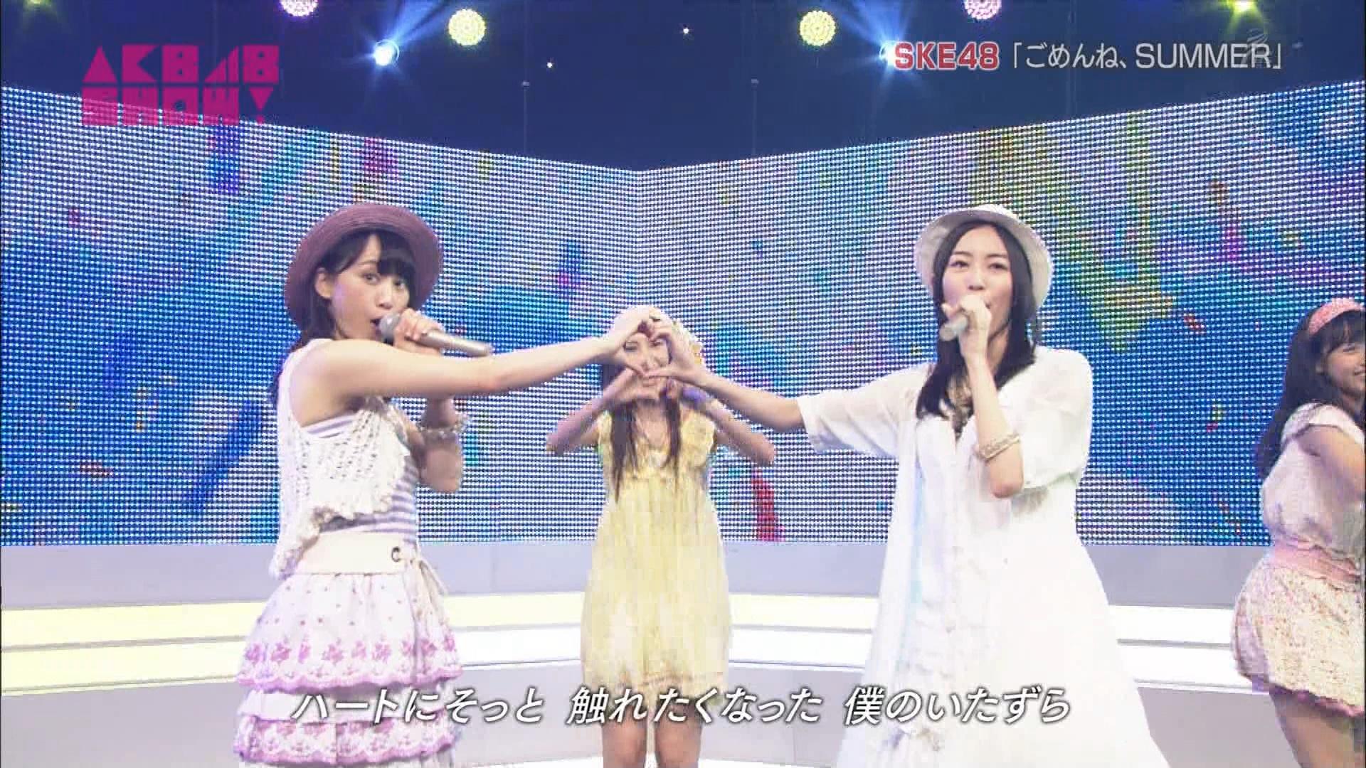 AKB48SHOW ごめんね、SUMMER 松井玲奈 20140830 (8)
