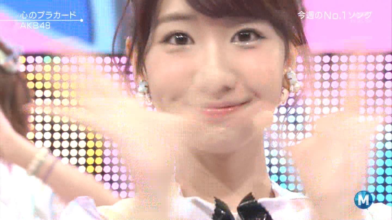 ミュージックステーション AKB48柏木由紀 心のプラカード 20140829 (41)