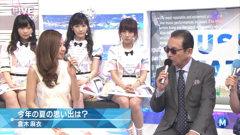 ミュージックステーション AKB48渡辺麻友 心のプラカード 20140829 (11)