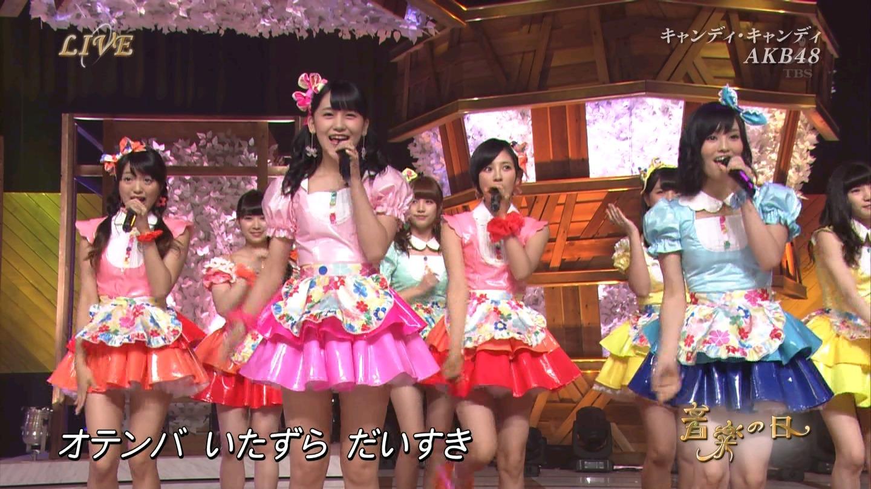 音楽の日 AKB48 キャンディ・キャンディ 20140802 (13)