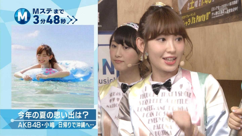 ミュージックステーション AKB48松井玲奈 心のプラカード 20140829 (5)