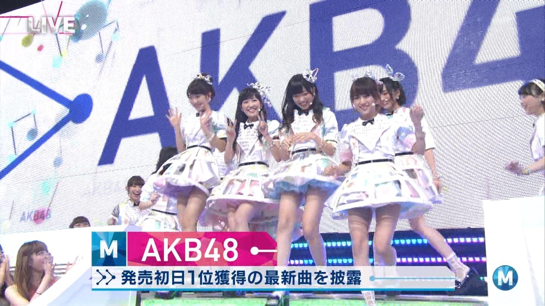 ミュージックステーション AKB48山本彩 心のプラカード 20140829 (1)