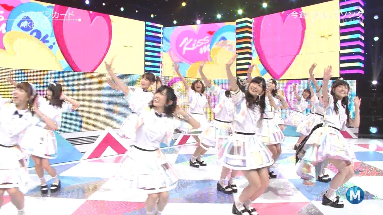 ミュージックステーション AKB48渡辺麻友 心のプラカード 20140829 (43)