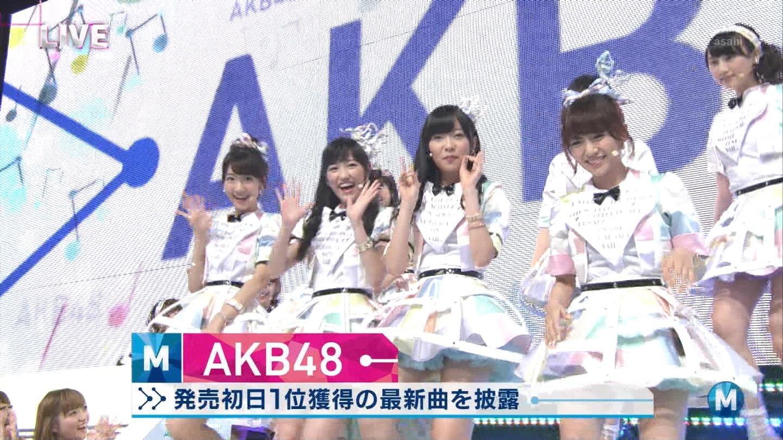 ミュージックステーション AKB48渡辺麻友 心のプラカード 20140829 (6)