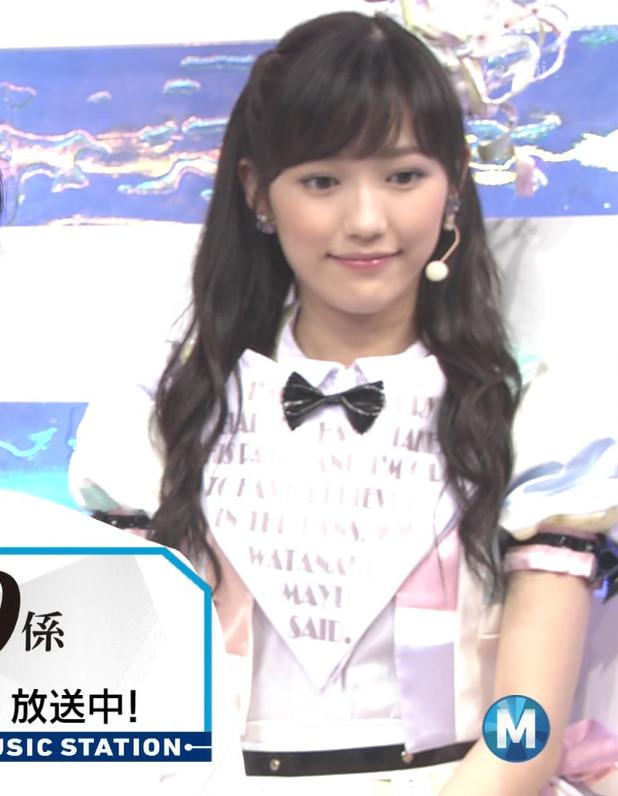 ミュージックステーション AKB48渡辺麻友 心のプラカード 20140829 (15)