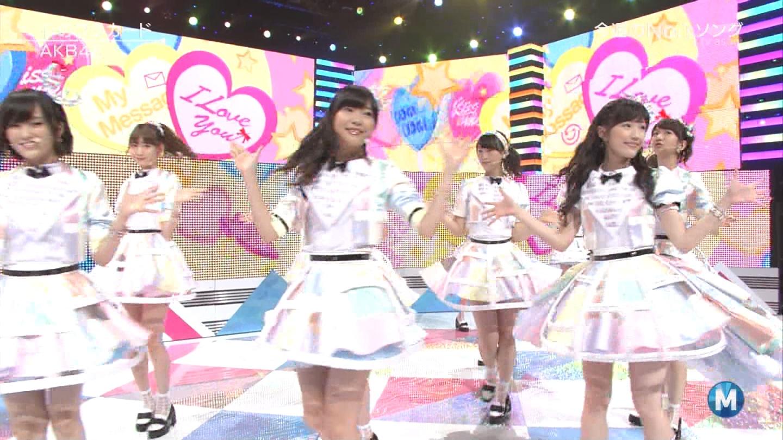 ミュージックステーション AKB48渡辺麻友 心のプラカード 20140829 (41)