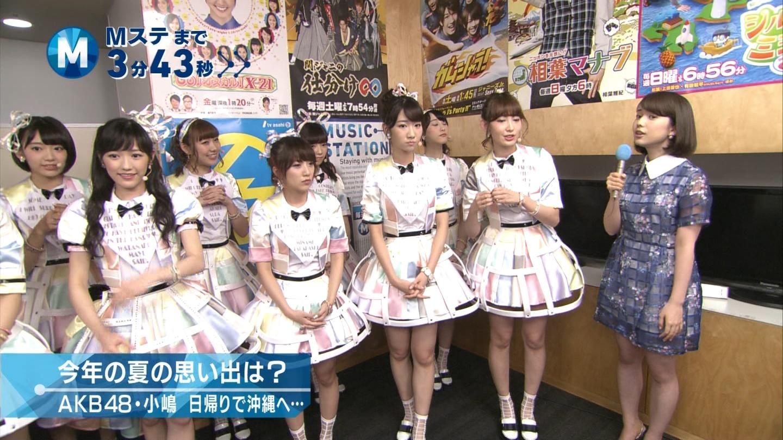 ミュージックステーション AKB48宮脇咲良 心のプラカード 20140829 (1)