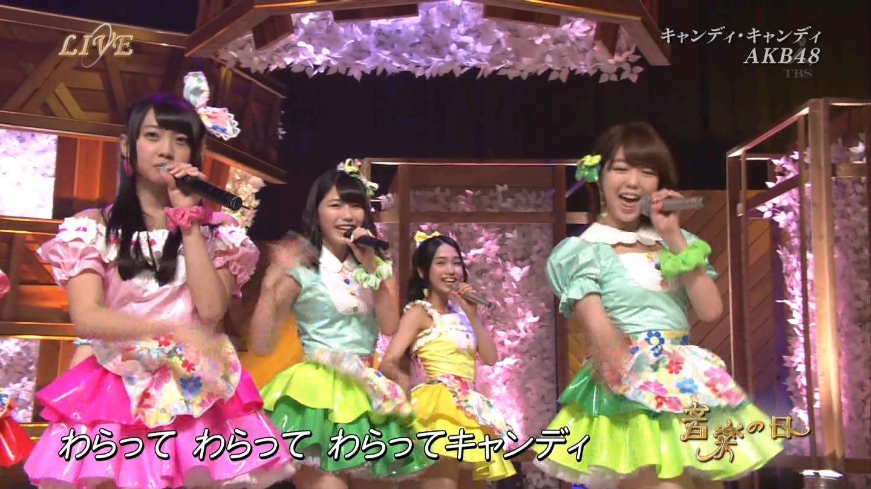 音楽の日 AKB48 キャンディ・キャンディ 20140802 (21)