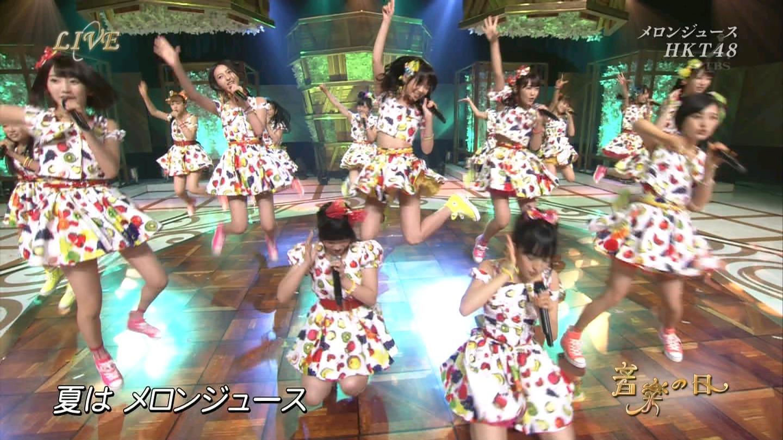 音楽の日 宮脇咲良AKB48 HKT48 20140802 (12)
