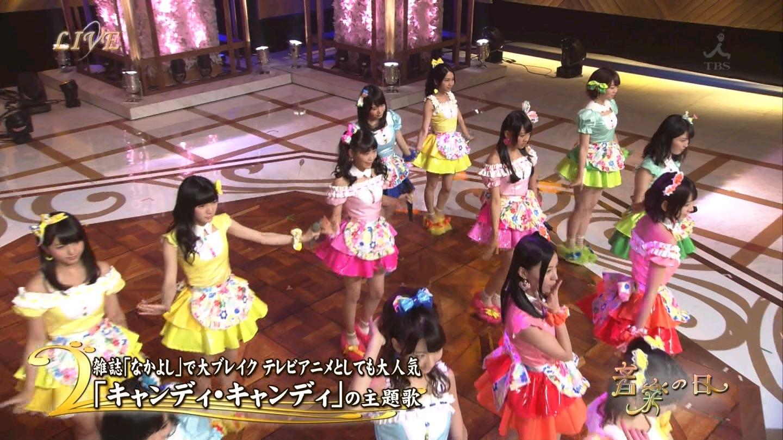 音楽の日 AKB48 キャンディ・キャンディ 20140802 (1)
