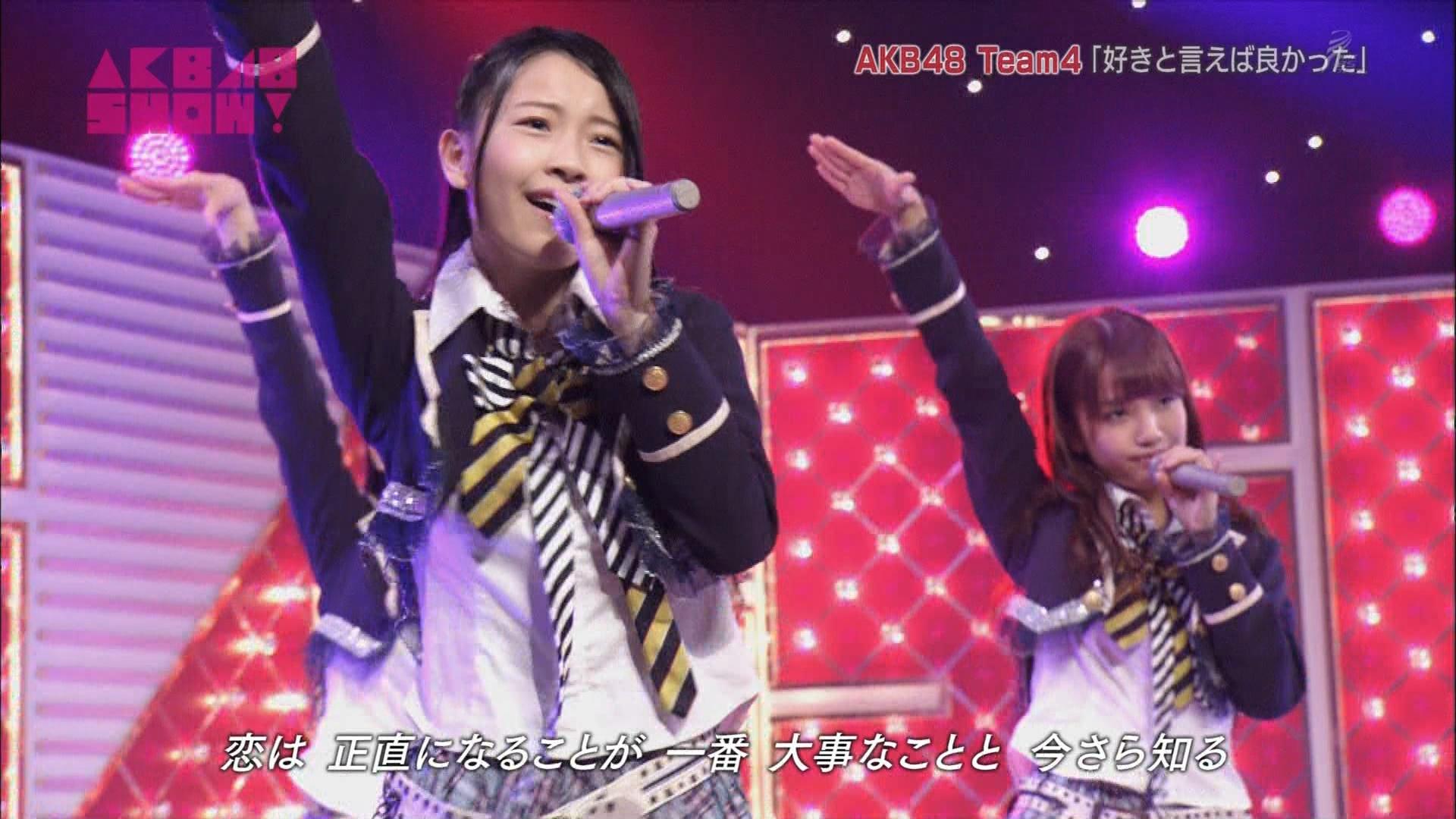 AKB48SHOW チーム4好きといえば良かった 加藤玲奈 20140830 (11)