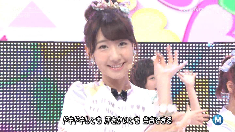 ミュージックステーション AKB48柏木由紀 心のプラカード 20140829 (38)