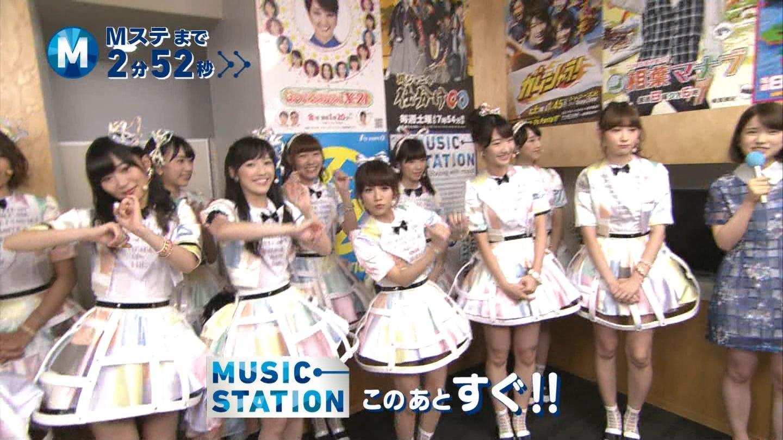 ミュージックステーション AKB48柏木由紀 心のプラカード 20140829 (18)