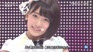 ミュージックステーション AKB48宮脇咲良 心のプラカード 20140829 (16)