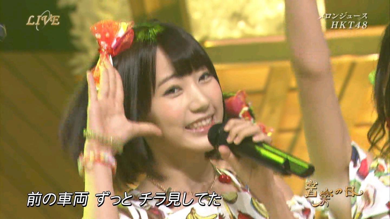 音楽の日 宮脇咲良AKB48 HKT48 20140802 (5)