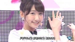ミュージックステーション AKB48柏木由紀 心のプラカード 20140829 (37)