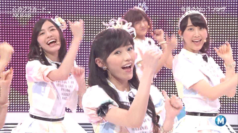 ミュージックステーション AKB48渡辺麻友 心のプラカード 20140829 (35)