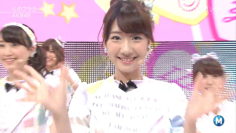 ミュージックステーション AKB48柏木由紀 心のプラカード 20140829 (42)