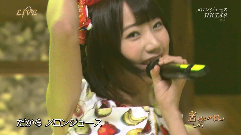 音楽の日 宮脇咲良AKB48 HKT48 20140802 (10)