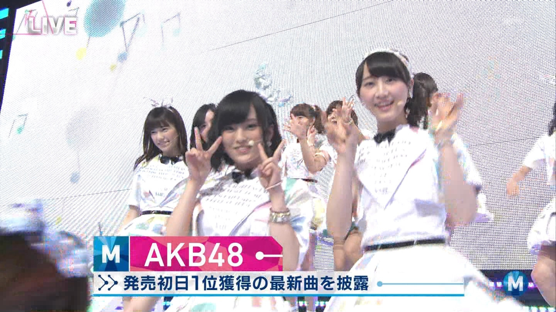 ミュージックステーション AKB48山本彩 心のプラカード 20140829 (3)