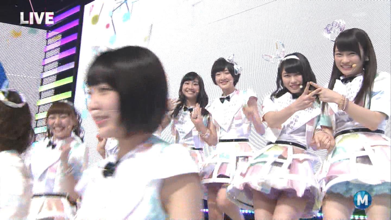 ミュージックステーション AKB48宮脇咲良 心のプラカード 20140829 (6)