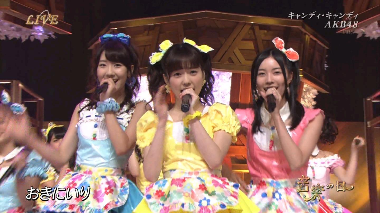 音楽の日 AKB48 キャンディ・キャンディ 20140802 (11)