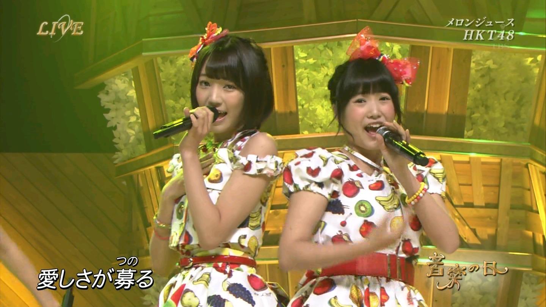 音楽の日 宮脇咲良AKB48 HKT48 20140802 (8)