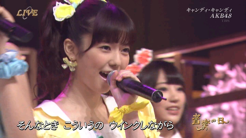 音楽の日 AKB48 キャンディ・キャンディ 20140802 (58)
