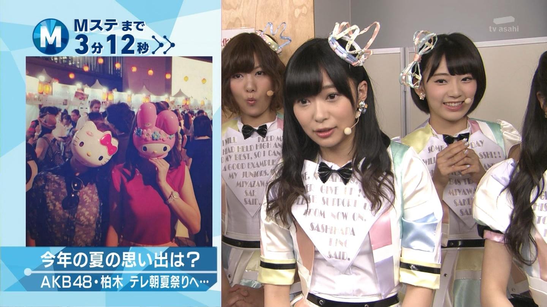 ミュージックステーション AKB48宮脇咲良 心のプラカード 20140829 (3)