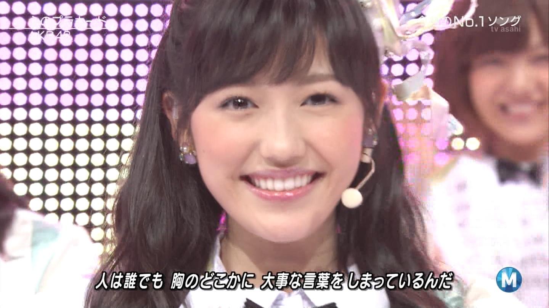 ミュージックステーション AKB48渡辺麻友 心のプラカード 20140829 (31)