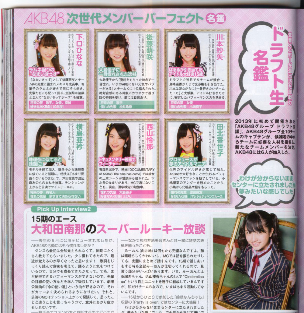 EX大衆2014年9月号 AKB48名鑑