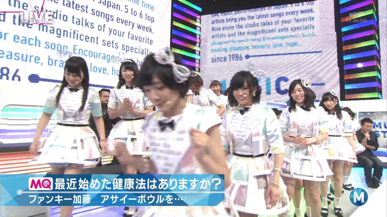 ミュージックステーション AKB48川栄李奈 心のプラカード 20140829 (5)