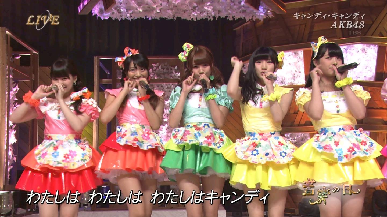 音楽の日 AKB48 キャンディ・キャンディ 20140802 (48)